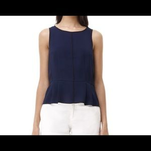 Club Monaco Danielle Peplum blouse top